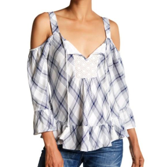 acc53dcaff4 DR2 Daniel Rainn Crochet bib blouse size L